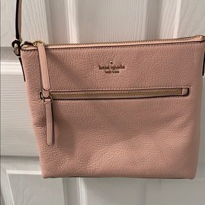 Kate Spade cross body. Pink leather gold hardware